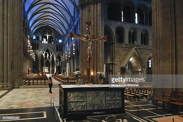 Interior of the cathedral of Trondheim, Norway