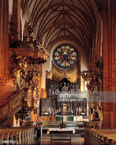 Interior of the Cathedral or the Great Church in Stockholm Sweden