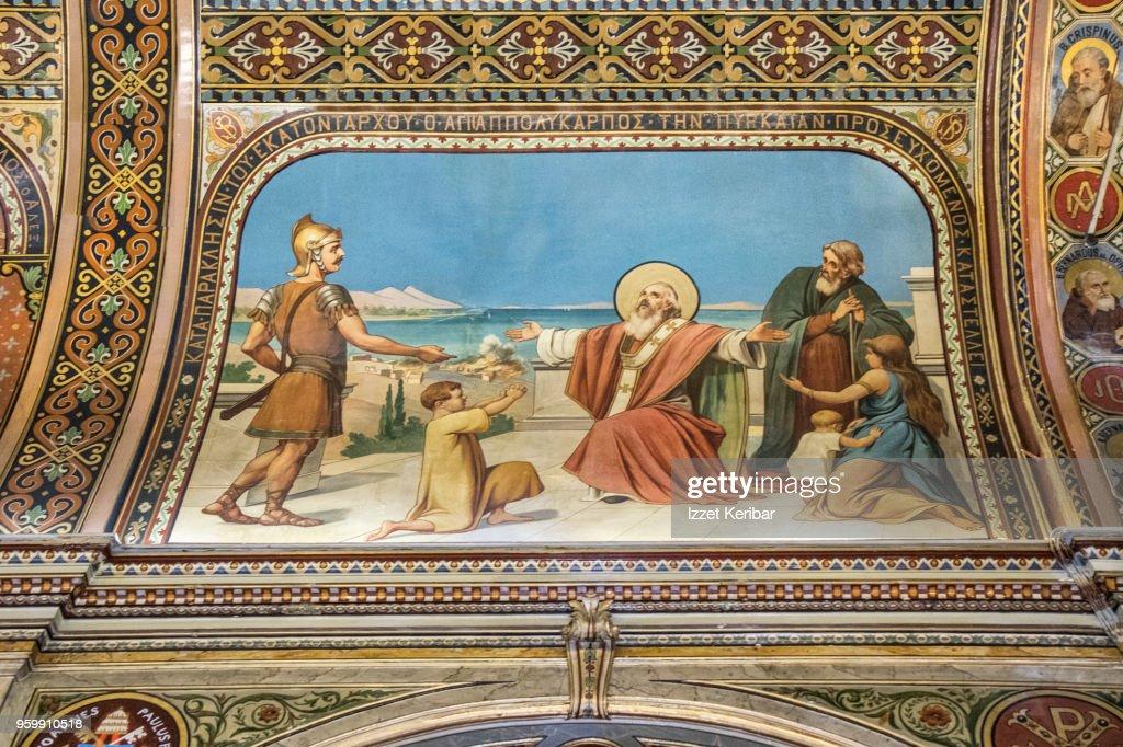 Interior of the Catholic Church St Polycarp, (19th century )  at Izmir : Stock-Foto