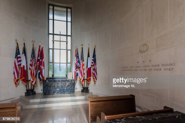 interior of the chapel at the normandy american cemetery - landing craft stock pictures, royalty-free photos & images