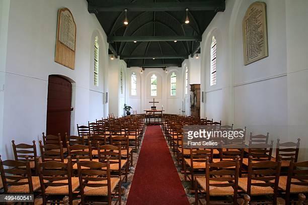 interior of the church of blauwkapel - frans sellies stockfoto's en -beelden