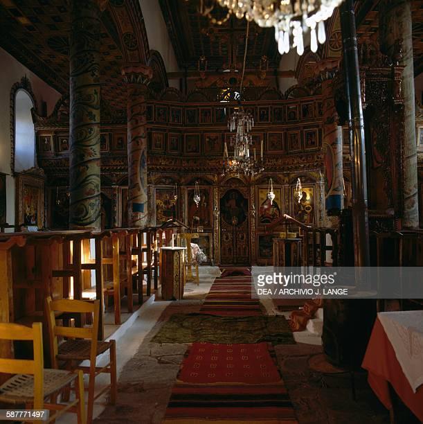 Interior of the Church of Koimisis tis Theotokou Livadaki near Drama Eastern Macedonia and Thrace Greece 19th century
