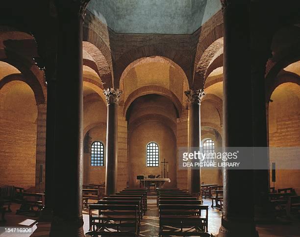 Interior of the Church of Santa Sofia Benevento Campania Italy 8th century