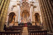 Interior of the church of the Cathedral of Porto. Portugal