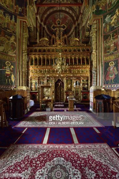Interior of the Church of the Holy Spirit Dragomirna Monastery Mitocu Dragomirnei Bukovina Moldova Romania 17th century