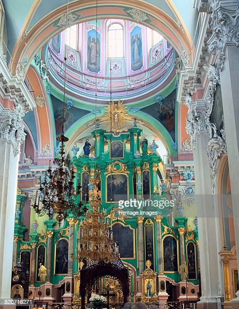 Interior of the Church of the Holy Spirit Vilnius Lithuania Built in the 17th century this is the main Orthodox church in Vilnius