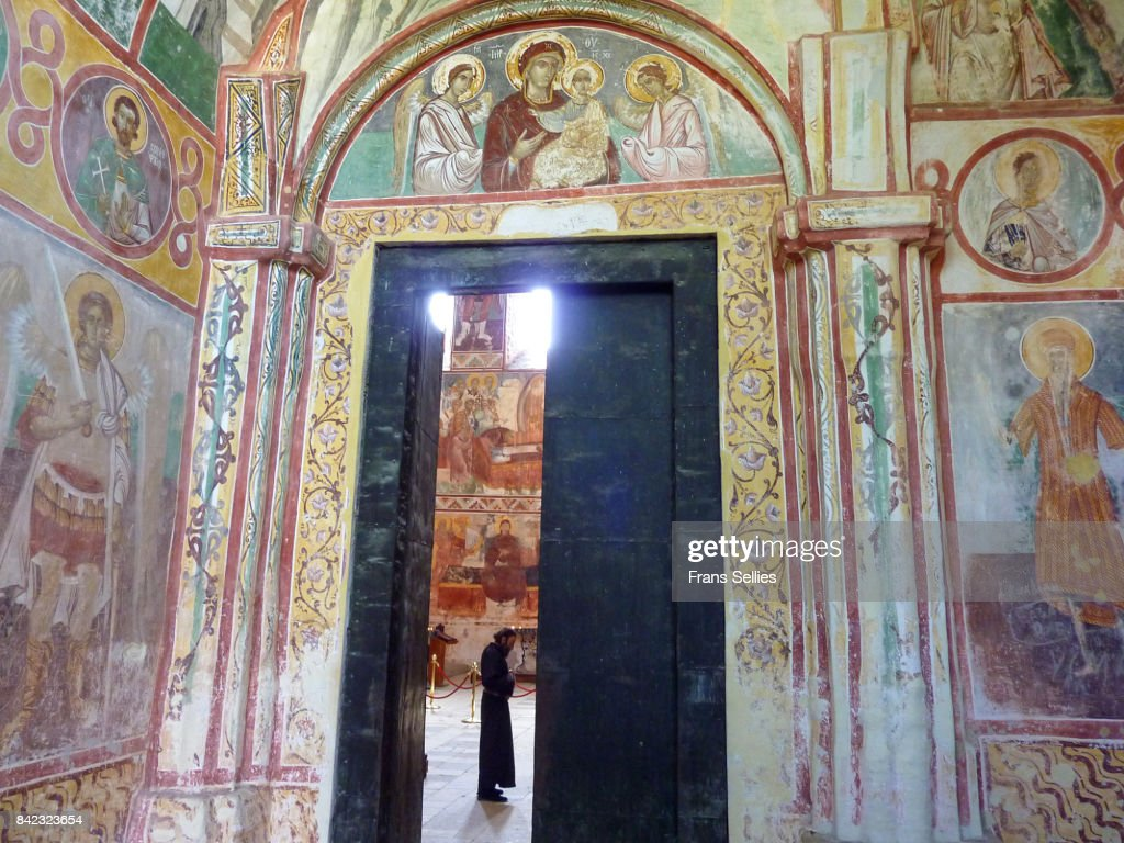 Interior of the Church of the Nativity of the Virgin, Gelati Monastery, Georgia : Stockfoto