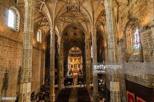 interior da igreja de mosteiro de st laneway, lisboa, portugal - ogphoto imagens e fotografias de stock