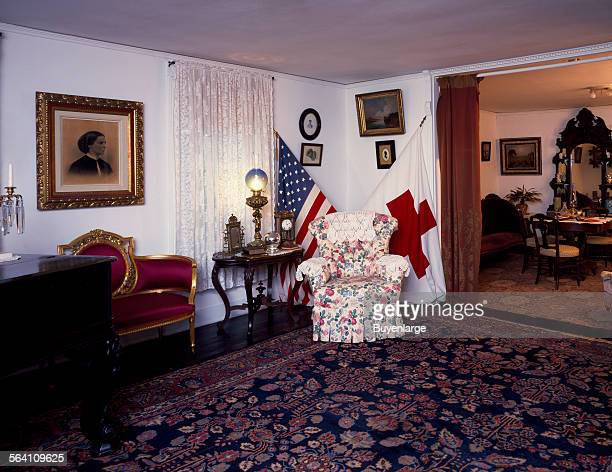 Interior of the Clara Barton House home of the founder of the American Red Cross Washington DC