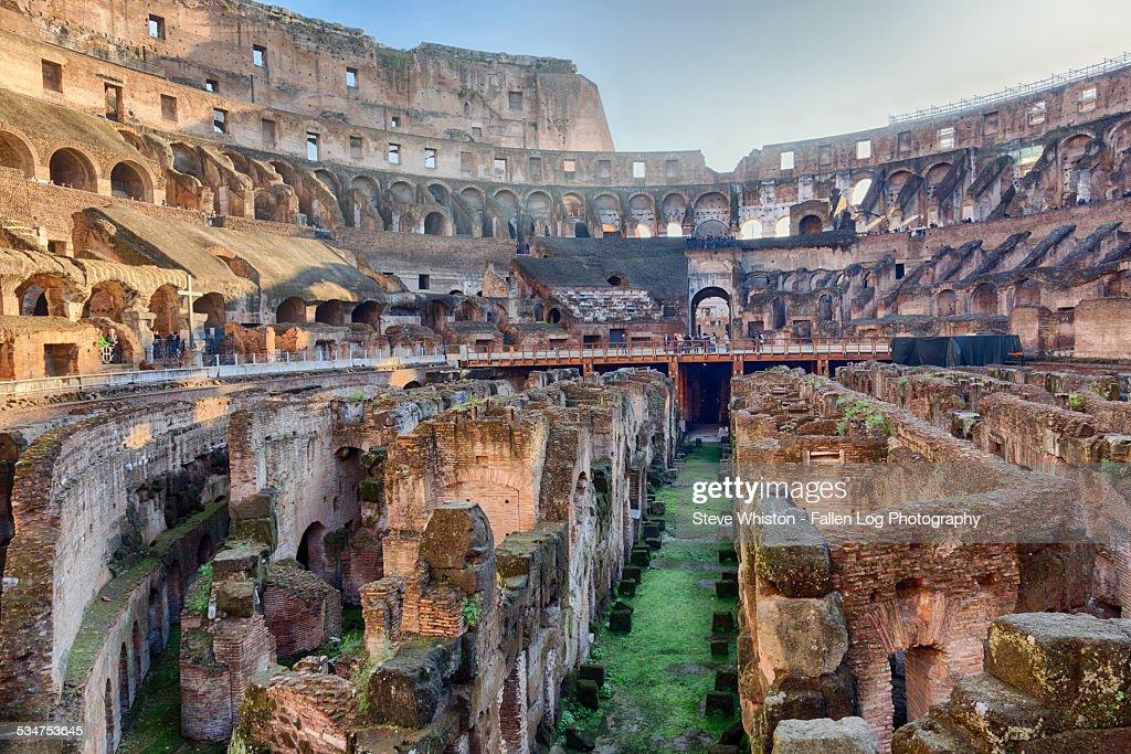 Interior of the Colosseum, Rome, Italy : Stock Photo