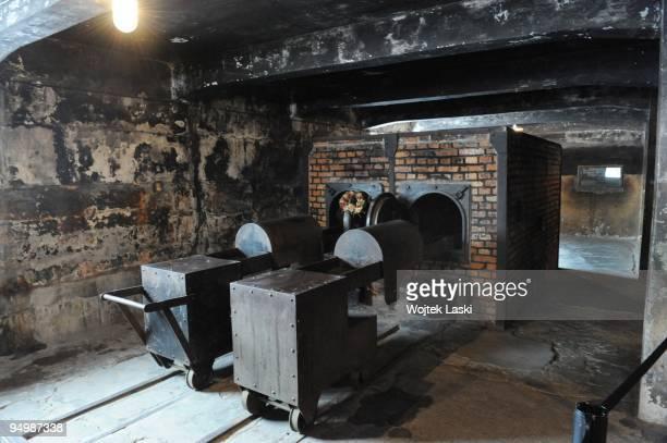 Interior of the crematorium of Auschwitz I concentration camp on December 17 2009 in Oswiecim Poland Auschwitz was a network of concentration camps...