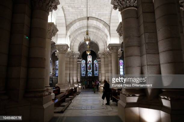 Interior of the crypt of La Almudena cathedral on October 3 2018 in Madrid Spain