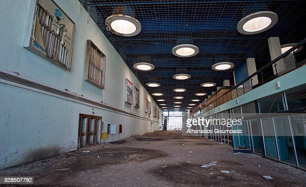 Interior of the derelict terminal building at the abandoned Nicosia International Airport on April 28, 2016 in Nicosia, Cyprus .On 27 March 1968 a...