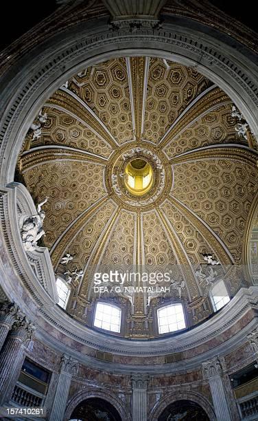Interior of the dome Church of Saint Andrew's at the Quirinal architect Gian Lorenzo Bernini Rome Italy 17th century