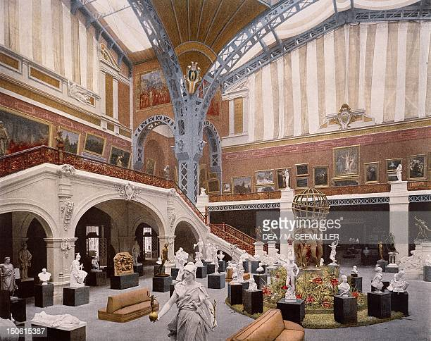 Interior of the dome of the Palais des Beaux Arts at the Paris World Fair 1889 France 19th century