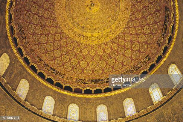 interior of the dome of the rock - dome of the rock stock pictures, royalty-free photos & images