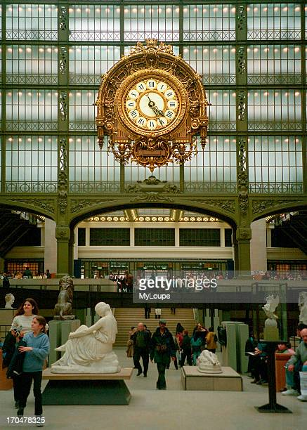Interior of the D'orsay art museum in a former railroad station