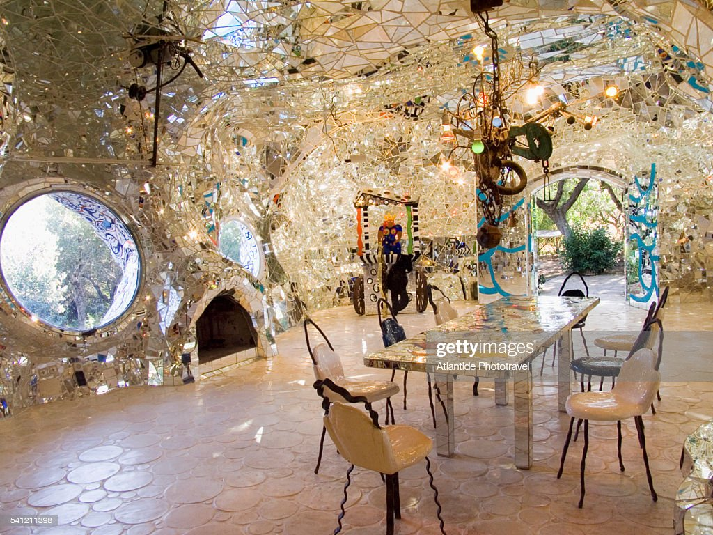 Interior of the empress by niki de saint phalle at the - Niki de saint phalle tarot garden ...