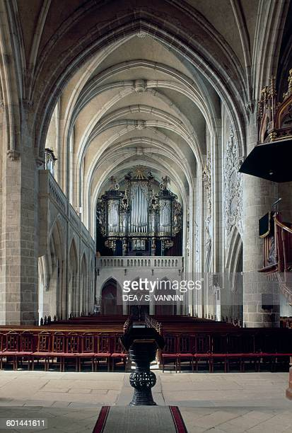Interior of the Evangelical Lutheran cathedral of St Mary Sibiu Romania 14th century