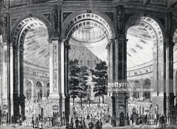 Interior of the exhibition building Universal Exhibition in Vienna Austria 19th century
