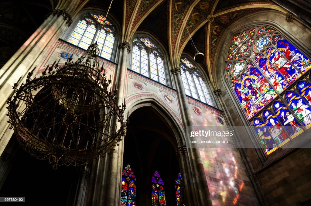 Interior Of The Famous Neo Gothic Votivkirche Votive Church In Vienna Stock Photo