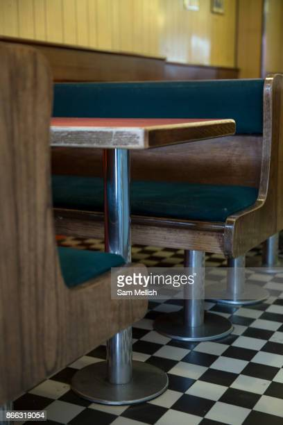 Interior of the Fryer's Delight Fish and Chip Shop on 13th October 2015 along Theobald's Road in London United Kingdom The Fryers Delight is a...