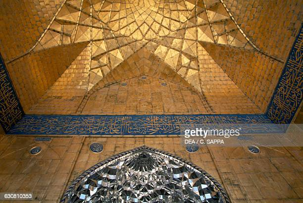 Interior of the Golden Dome or AlAskari mosque before the attacks in 2006 and 2007 Samarra Iraq 10th12th century