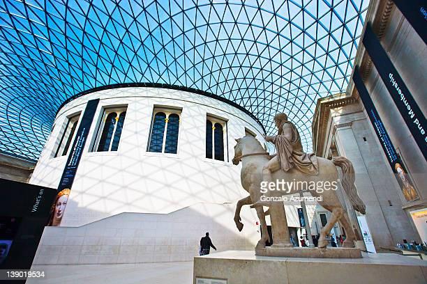 Interior of the Great Court, British museum,