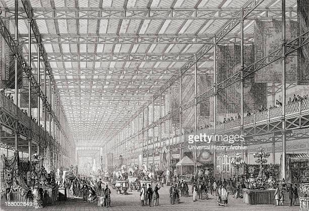 Interior Of The Great Exhibition Of The Works Of Industry Of All Nations In Hyde Park London England 1851From Cyclopaedia Of Useful Arts And...