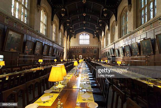 Interior of The Great Hall at Christ Church College in Oxford