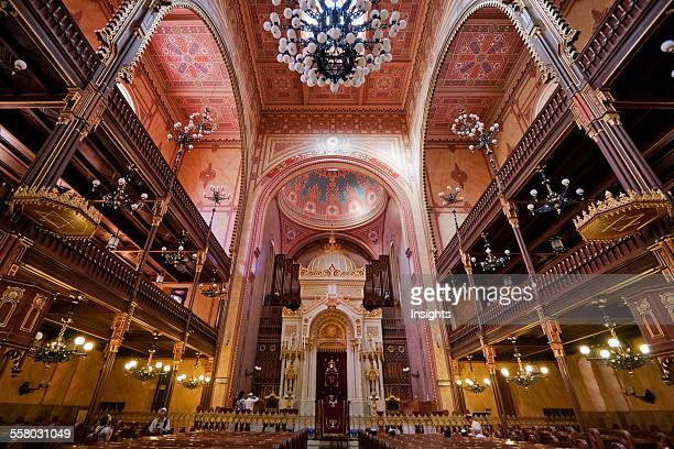 Interior Of The Great Synagogue On Dohany Street Budapest Hungary