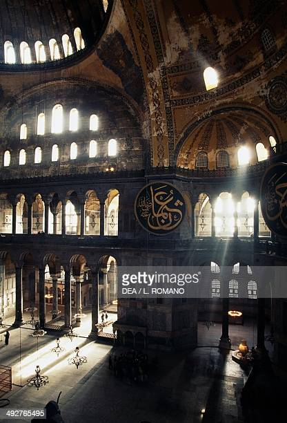 Interior of the Hagia Sophia 6th16th century Istanbul Turkey