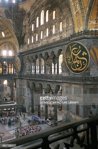 Interior of the Hagia Sophia Istanbul Turkey