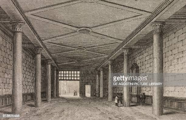 Interior of the Hamburg Stock Exchange Germany engraving by Lemaitre from Villes Anseatiques by Roux de Rochelle L'Univers pittoresque published by...