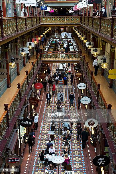 Interior of the historic Strand Arcade Sydney New South Wales NSW Australia