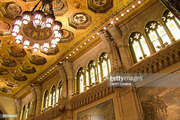 interior of the house of commons in canada - canada house stock pictures, royalty-free photos & images