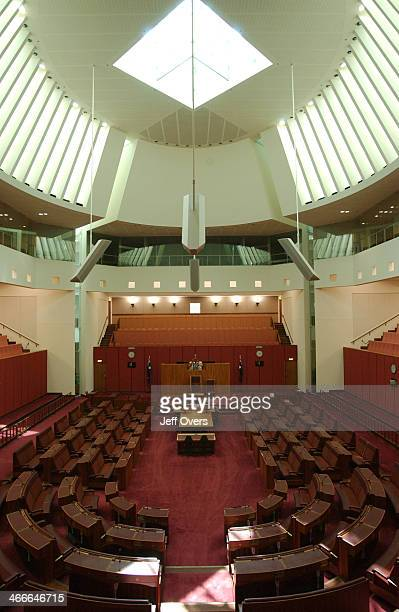 Interior of the House of Representatives chamber in Canberra