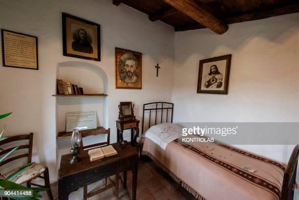 PIETRELCINA CAMPANIA ITALY Interior of the house where St Padre Pio lived in Pietrelcina town Campania region southern Italy