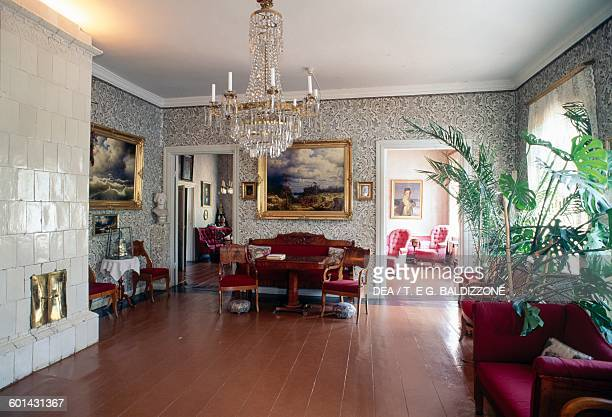 Interior of the housemuseum of Johan Ludvig Runeberg Porvoo Finland