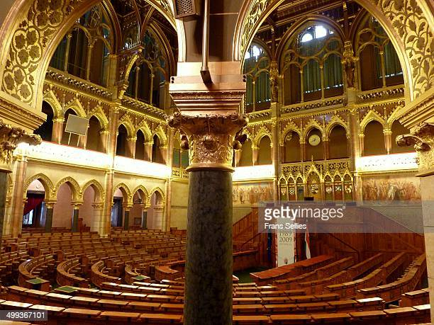 interior of the hungarian parliament - frans sellies stock pictures, royalty-free photos & images