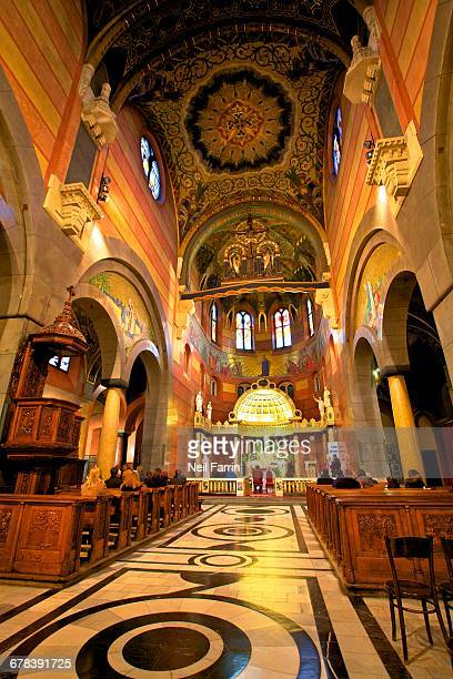 interior of the jesuit basilica, krakow (cracow), poland, europe - 20th century style stock pictures, royalty-free photos & images