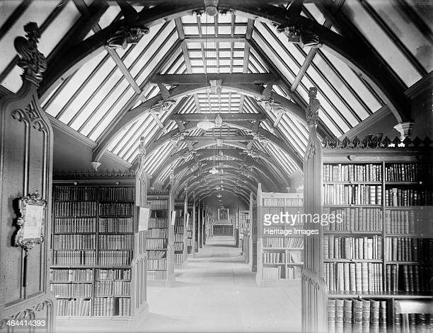 Interior of the Library looking along the main passage with shelves on either side St Johns College Oxford Oxfordshire c1860c1922