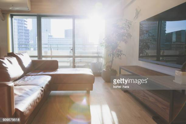 interior of the living room - simple living stock pictures, royalty-free photos & images