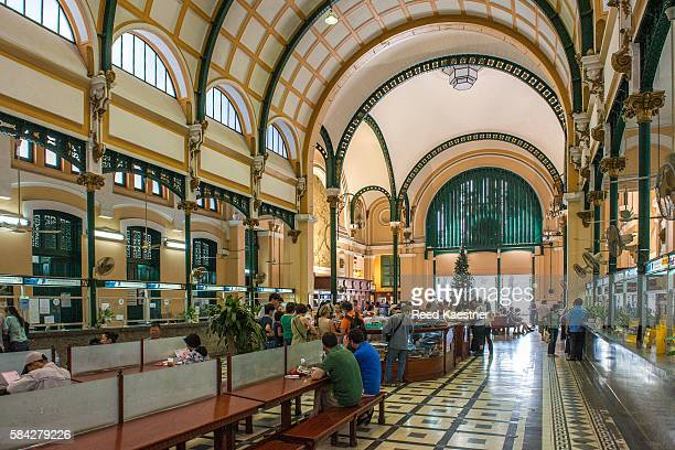 Interior of the main post office in central Ho Chi Minh city, Vietnam