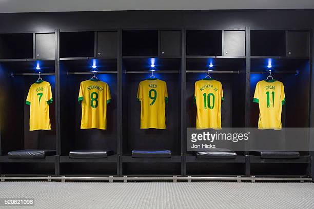 interior of the maracana stadium in rio de janeiro. - sports jersey stock pictures, royalty-free photos & images