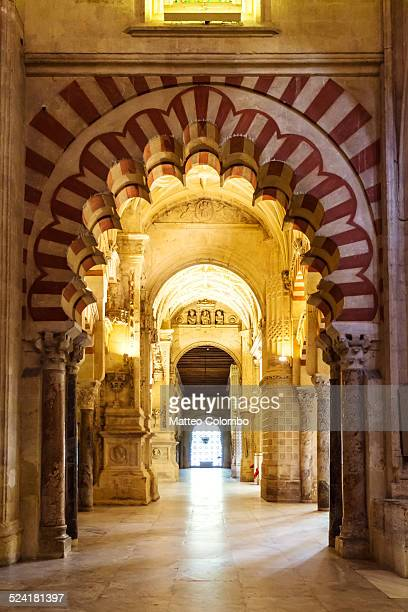 Interior of the Mezquita of Corboba, Spain