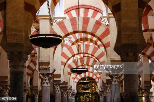 Interior of the Mezquita, or Mosque - Cathedral of Córdoba, Andalusia, Spain