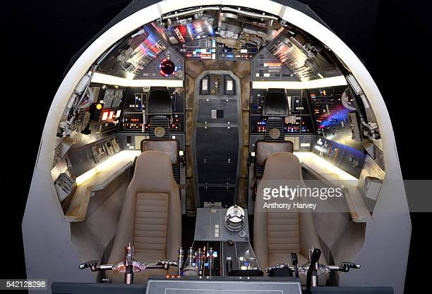 Interior of the Millenium Falcon on display at the Star Wars Gallery at Harrods on June 18, 2016 in London, England.