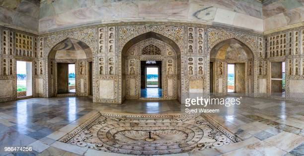 interior of the musamman burj, agra, india. - interior of taj mahal stock pictures, royalty-free photos & images