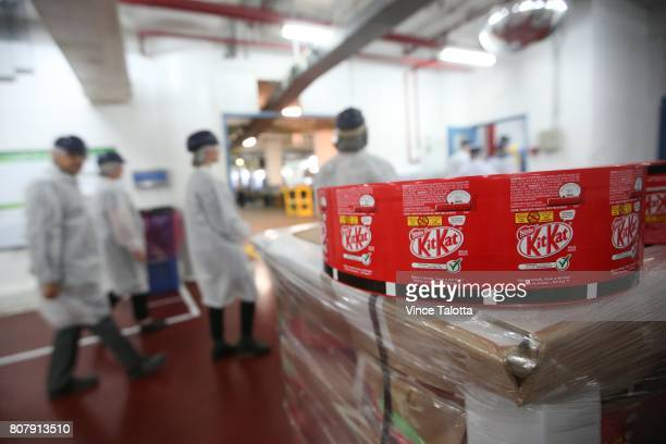 Interior of the Nestle candy factory in Toronto where they produce Kit Kat Smarties etc